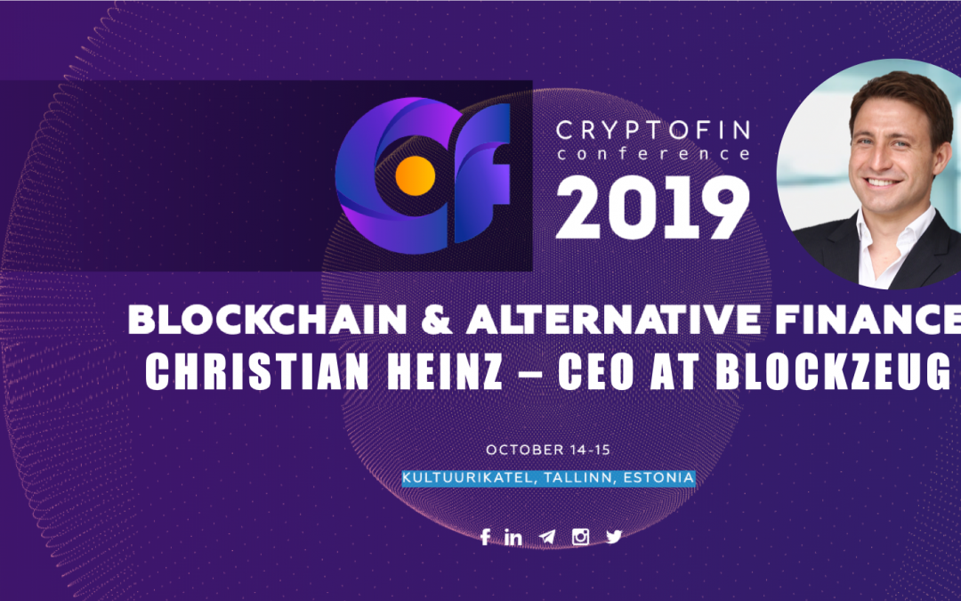 CRYPTOFIN conference 2019: Tokenized Financial Instruments & the Future of Finance